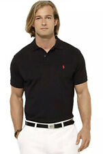 Ralph Lauren Black Custom Slim Fit Pima Cotton Polo Shirt