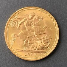 1957  Sovereign Scarce First Sovereign Featuring QEII Finer Edging Historic Coin