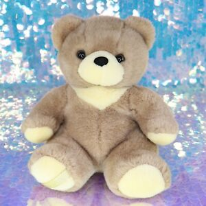 "PLATINUM PLUS TEDDY BEAR 12"" Plush Stuffed Animal Tan and Cream BH045"