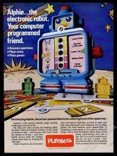 1978 Playskool Alphie Robot Vintage Photo Imprimé Annonce