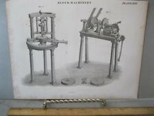 Vintage Print,BLOCK MACHINERY,Plate 61,c1800