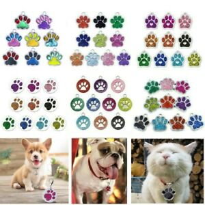 Wholesale Dog Paw ID Tag Disc Engravable Multi Type Disk Blank Tags for Pets cat