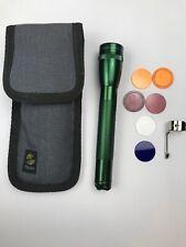 Maglite Mini AA GREEN with Sheath + Many Extras ~ Sheath, Lenses, Clip