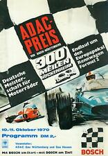 1970 Programm ADAC Preis BW 300 Meilen Hockenheim Interserie F2 Quester Cevert