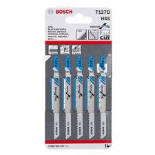 Bosch T127D Jigsaw blades (5) aluminium metal cutting 2608631017 VAT RECEIPT