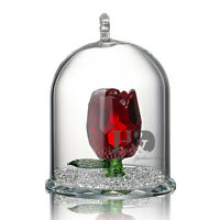 New Crystal Cut Glass Rose Figurines Flower Collectibles Wedding Gift Ornaments
