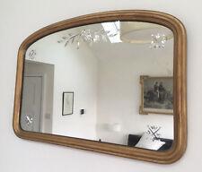 Vintage Antique Art Deco Gilt Gesso Wooden Cut Glass Mirror