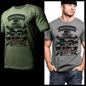 Mortarman T-Shirt Infantry Military Iraq Afghanistan War Combat Veteran