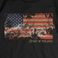 Patriotic Home of the Free T-SHIRT USA American Flag TEE