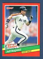 1991 Donruss Jeff Bagwell Rookie RC #30 The Rookies Houston Astros