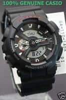 GA-110-1A Black Casio Watches G-Shock 200M Analog Digital X-Large Resin New
