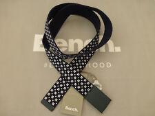 BENCH Webbing Belt Men's PRINTED Strap Branded Buckle One-Size Belts BNWT