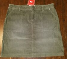 The NORTH FACE Taupe Green NENANA Stretch CORDUROY SKIRT Womens Medium $65 NWT