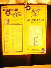 CARTE ROUTIERE MICHELIN ORIGINAL: N° 205 1959/60 : ALLEMAGNE (FRANCAIS/DEUTSCHE)
