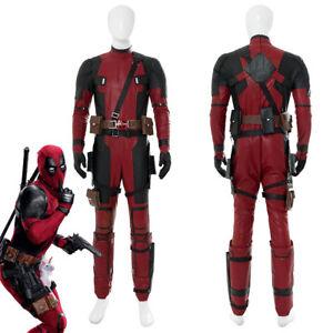 Hot Movie Deadpool 2 Wade Cosplay Costume Jumpsuit Full Set Mask Male Suit