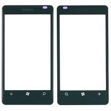Original Nokia Lumia 800 Displayglas Glas Scheibe schwarz