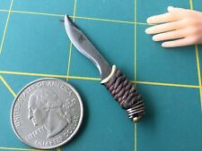"""Elvish Hunting Knife"" 1:6 Scale Knife Custom Steel Miniature By Auret"