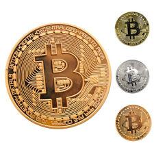 3x Bitcoin Pièce Commémorative Rare Collectible Coin Souvenir Physique Cadeau nf