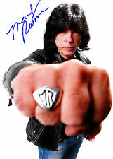 Marky Ramone Personally Autographed Colour 8:5 x 11 Glossy with COA 2012 Ramones