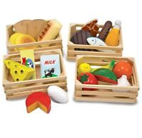 Melissa and & Doug Food Groups Wooden Play Food Set BRAND NEW & SEALED