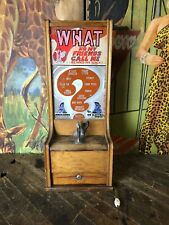 VINTAGE COIN OPERATED EXHIBIT SUPPLY WHAT DO MY FRIENDS CALL ME TRADE SIMULATOR