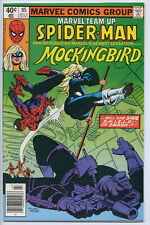 MARVEL TEAM-UP #95 - 8.0, WP - 1st Mockingbird - Spider-Man - Nick Fury - Miller