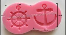 Nautical Anchor Fondant Gum paste Clay Silicone Cupcake Cake Topper Mold Molder