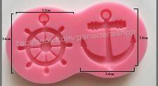 Nautical Anchor Fondant Gum paste Clay Silicone Cupcake Cake Topper Mold Molder