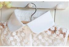 Detachable Women Cotton Lapel Shirt Fake False Collar Choker Necklace #Eaf140