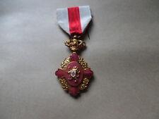belle medaille belge militaire emaillée don de sang couleur or