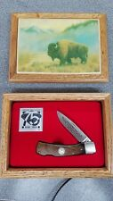 Schrade knife 75th National Park Service wood box & papers