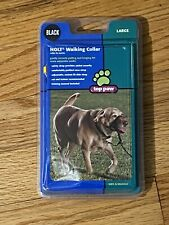 HOLT TOP PAW DOG WALKING COLLAR Correct Pulling & Lunging LARGE BLACK W/MANUAL