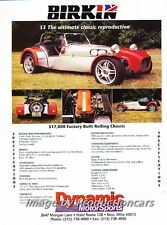 1999 2000 Birkin S3 Seven Lotus Kit Original Advertisement Print Art Car Ad J687