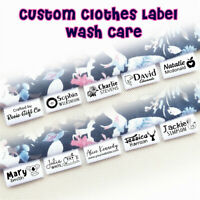 Custom Hanging Tag Wash Care Instruction Sew In Garment DIY Clothes Fabric Label