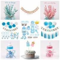 Baby Shower Party Supply Hanging Decor It's a Boy Girl Banner Set Paper Straws