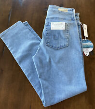 NEW AG Adriano Goldschmied Women's 29R Stevie High-Rise Skinny Ankle Jeans Light