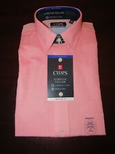 mens chaps ralph lauren stretch dress shirt M 15 x 32/33 nwt cherry pink