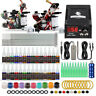 Beginner Tattoo Kit Supplies Equipment Set 20 Color ink Needle Power Tip Grip v