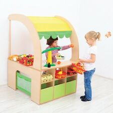 Kids Wooden Shopping Stall Shop Childrens Role Play Fun Toy Educational Gift NEW