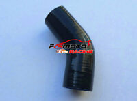"Silicone Hose 45 degree Bend Elbow 2"" 51mm Black Intercooler Intake Tube pipe"