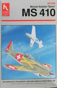HOBBYCRAFT 1/48 Morane-Saulnier MS-410 Switzerland & France