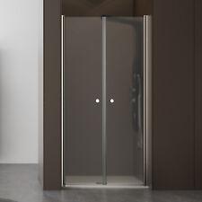Box doccia saloon da 80 cm doppia anta battente in cristallo apertura antipanico