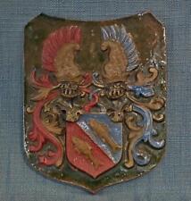 Antique 17-19 century German Heraldic Armorial Shield Ceramic Tile coat of arms