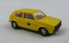 VW Golf Post gelb Wiking 1:87 H0 ohne OVP [FO]