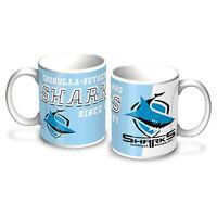 Cronulla Sharks NRL LOGO Coffee Mug EST DATE Man Cave Bar Fathers Mothers Gift