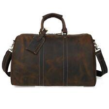Vintage Men Leather Overnight Luggage Travel Shoulder Bag Laptop Duffle Gym Bag