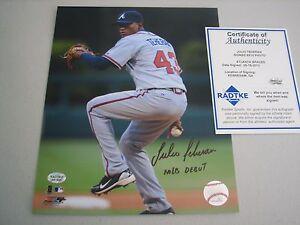 Julio Teheran Autographed Signed 8X10 Photo - Radtke