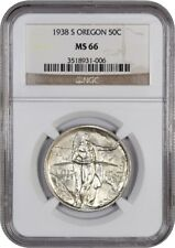 1938-S Oregon 50c NGC MS66 - Low Mintage Issue - Silver Classic Commemorative