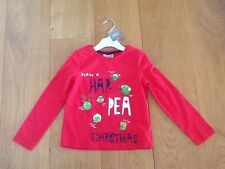 Next NWT red Christmas pea top sz 3-4yrs for a little Girl Super Cute