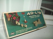 VTG 1972 Ad-Lib Crossword Cubes Formerly Scibbage Game NEW